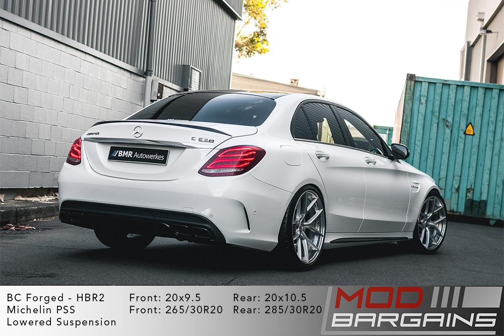 Mercedes W205 C63S AMG Sedan BC Forged HBR2 Wheels ModBargains