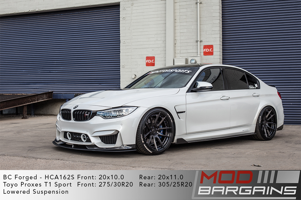 White F80 BMW M3 Lowered on 20 inch BC Forged HCA162 Wheels Toyo Tires Modbargains