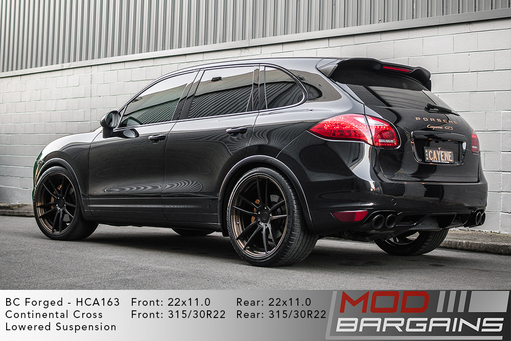 Porsche Cayenne GTS on 22 inch BC Forged HCA163 Wheels Continental Tires Modbargains