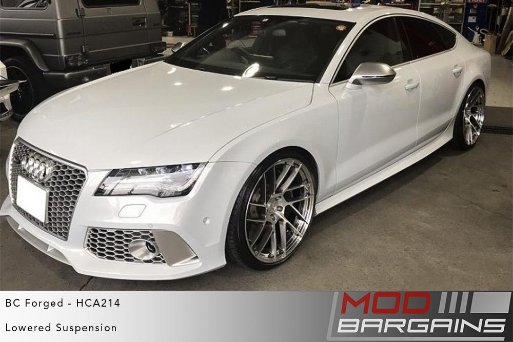 White Audi RS7 on BC Forged HCA214 Wheels Modbargains