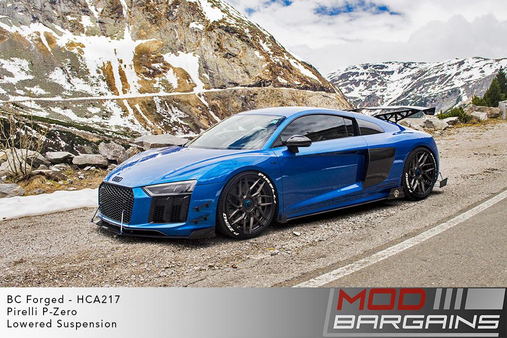 Blue Audi FX R8 on BC Forged HCA217S Wheels Michelin PSS Tires Modbargains