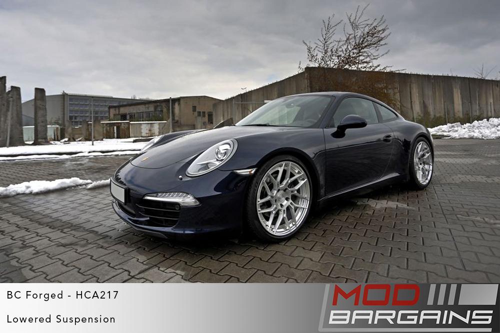 Blue Porsche 991 911 on BC Forged HCA217 Wheels Modbargains