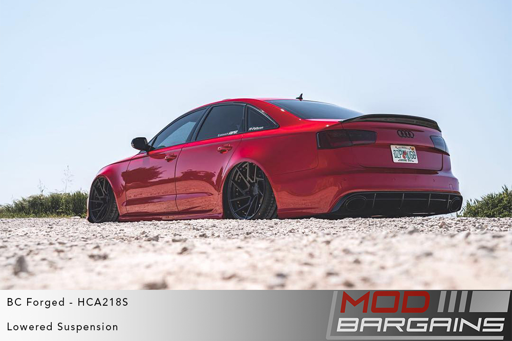 Red Audi C7 A6 S6 RS6 on BC Forged HCA218 Wheels Modbargains