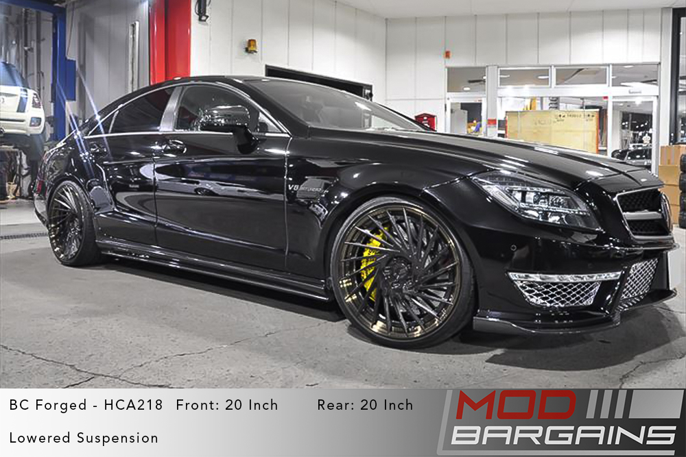 Black Mercedes W218 CLS63 AMG on 20 inch BC Forged HCA221S Wheels Modbargains
