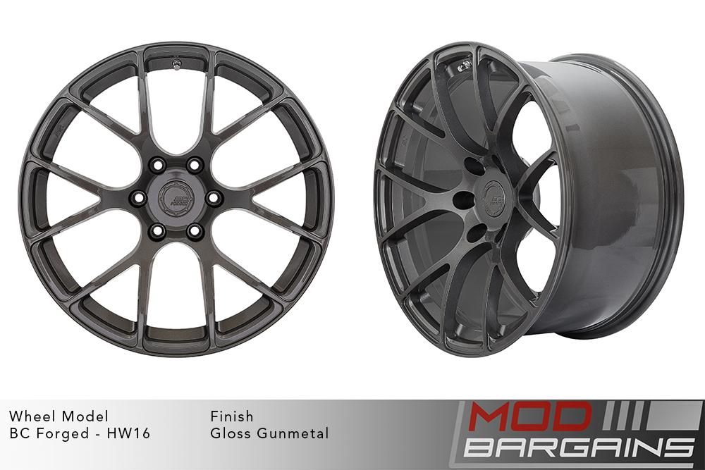 BC Forged HW16 Monoblock Forged Aluminum Split 6 Spoke Concave Gloss Gunmetal Wheels Modbargains