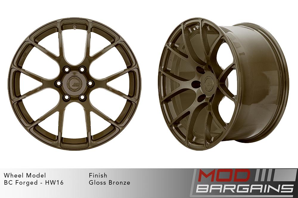 BC Forged HW16 Monoblock Forged Aluminum Split 6 Spoke Concave Gloss Bronze Modbargains