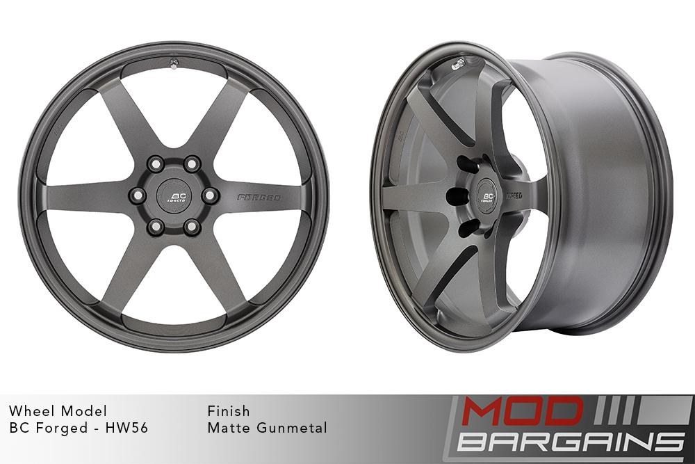BC Forged HW56 Monoblock Forged Aluminum 6 Spoke Concave Matte Gunmetal Wheels Modbargains