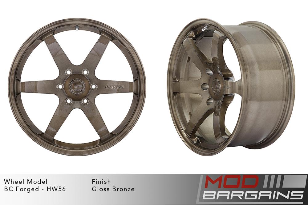 BC Forged HW56 Monoblock Forged Aluminum 6 Spoke Concave Gloss Bronze Modbargains