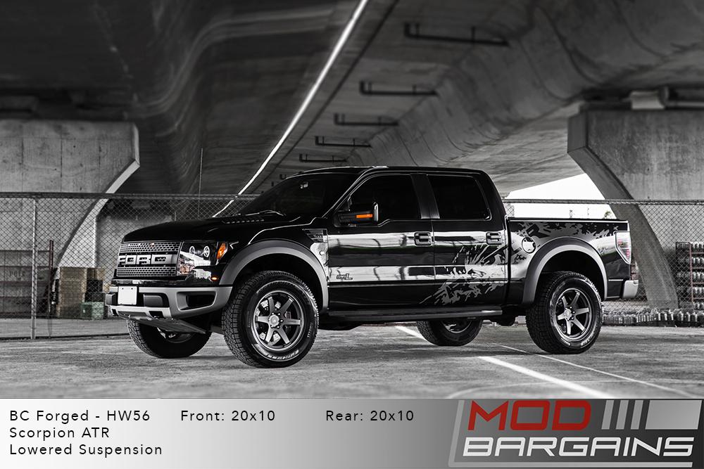 Ford Raptor Black BC Forged HW56 Matte Gunmetal Wheels Modbargains