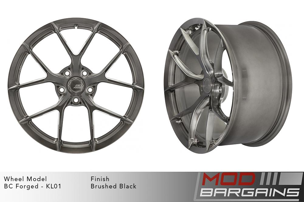BC Forged KL01 Monoblock Forged Aluminum Split 5 Spoke Concave Brushed Black Gunmetal Wheels Modbargains