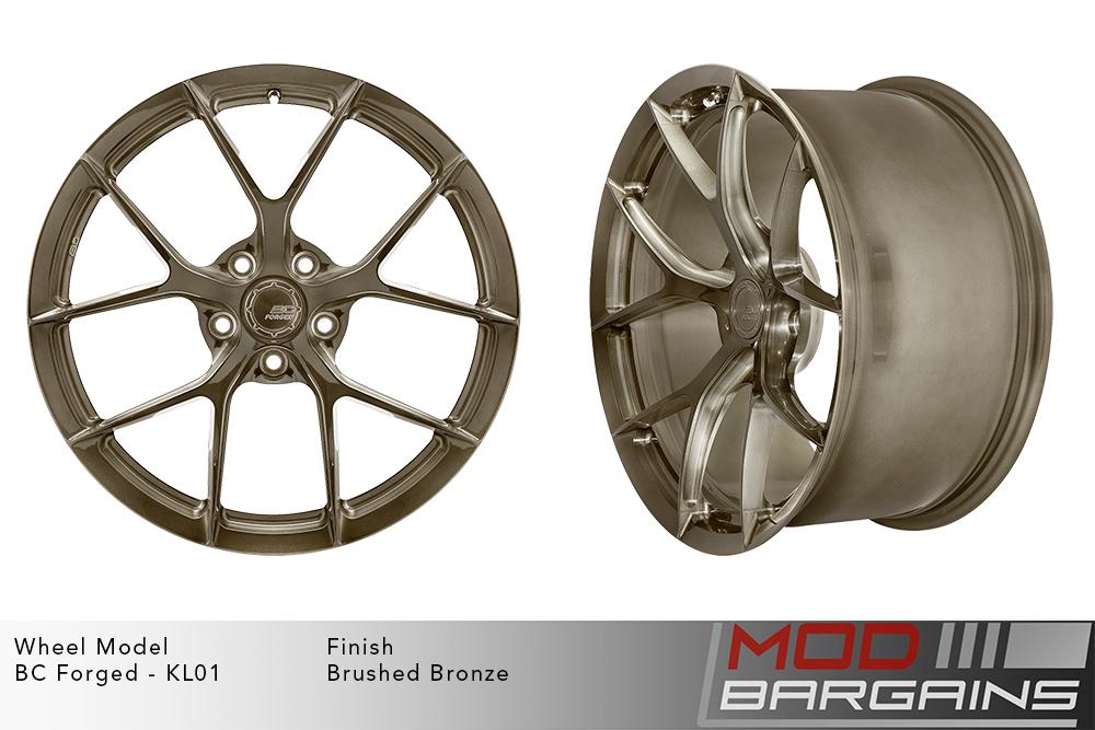 BC Forged KL01 Monoblock Forged Aluminum Split 5 Spoke Concave Wheels Brushed Bronze Modbargains