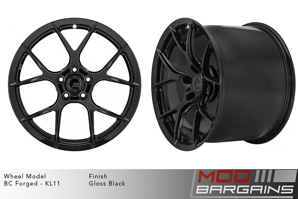 BC Forged KL11 Monoblock Forged Aluminum Split 5 Spoke Concave Gloss Black Wheels Modbargains