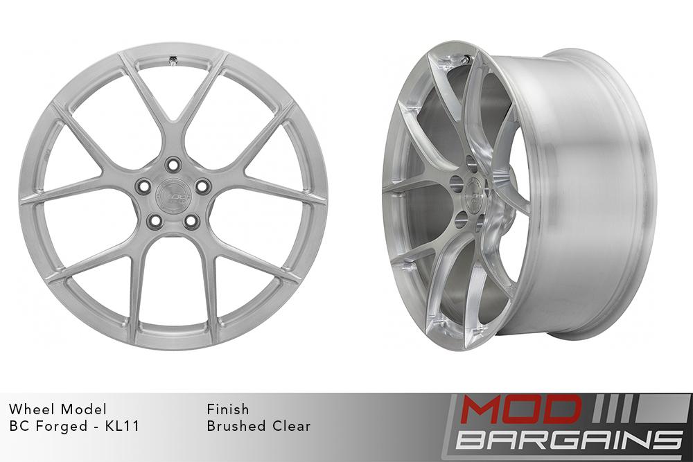 BC Forged KL11 Monoblock Forged Aluminum Split 5 Spoke Concave Brushed Clear Wheels Modbargains