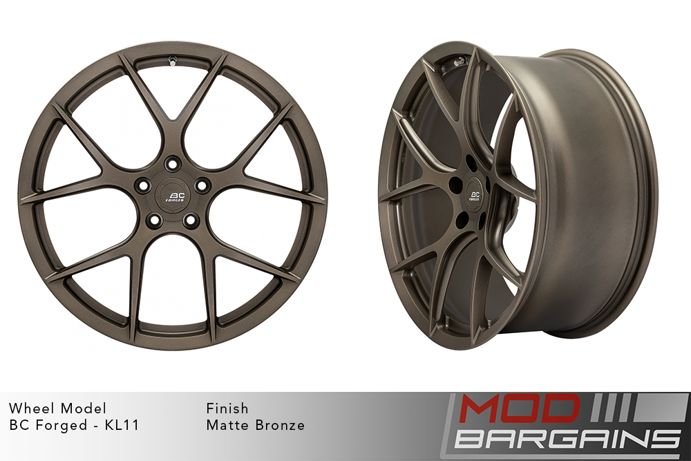 BC Forged KL11 Monoblock Forged Aluminum Split 5 Spoke Concave Matte Bronze Wheels Modbargains