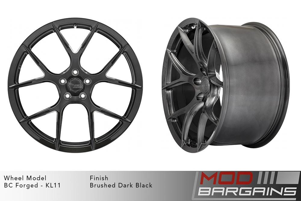 BC Forged KL11 Monoblock Forged Aluminum Split 5 Spoke Concave Brushed Dark Black Wheels Modbargains