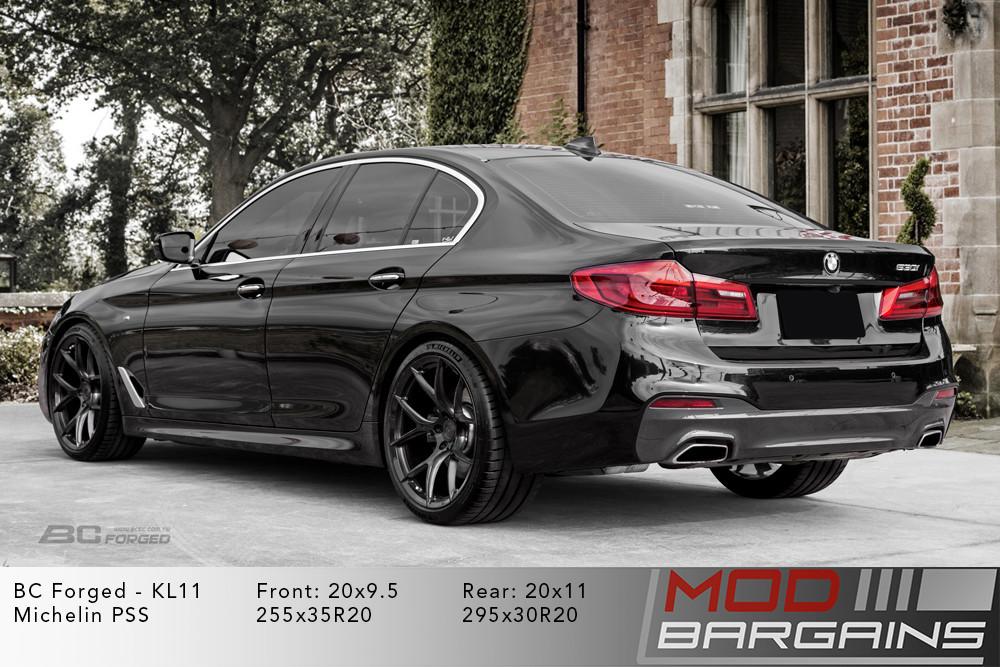 2017+ BMW G30 530i Black BC Forged KL11 Brushed Dark Black Wheels Modbargains