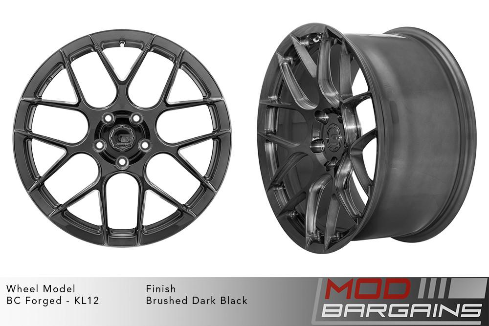 BC Forged KL12 Monoblock Forged Aluminum Split 7 Spoke Concave Brushed Dark Black Wheels Modbargains