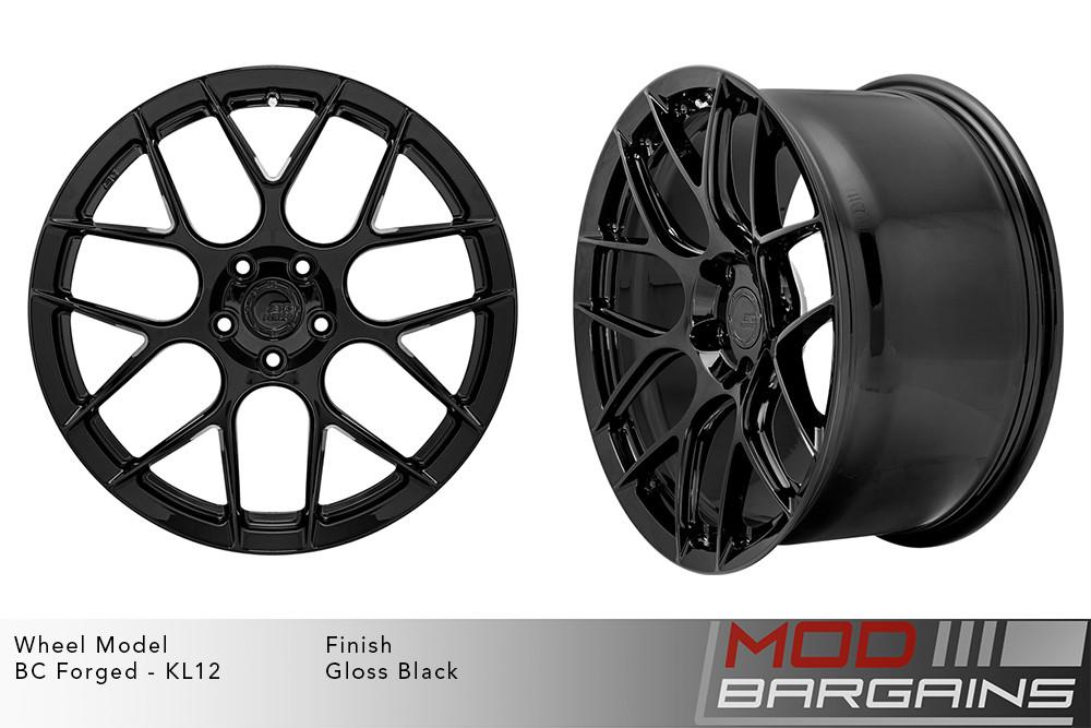 BC Forged KL12 Monoblock Forged Aluminum Split 7 Spoke Concave Gloss Black Wheels Modbargains