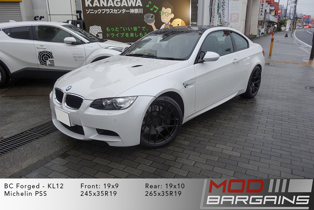 2017+ BMW E92 White BC Forged KL12 Matte Black Wheels Modbargains