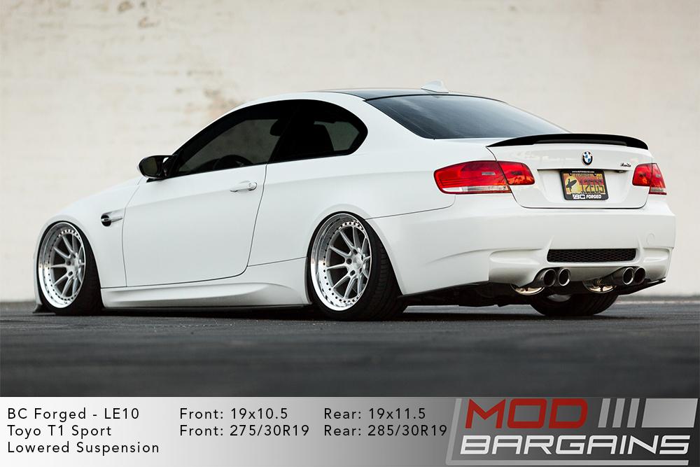 BMW E92 M3 White BC Forged LE10 Wheels Modbargains