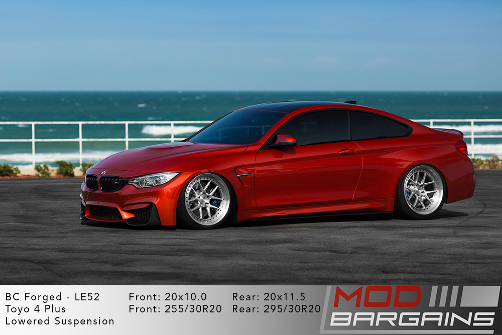 Red BMW F82 M4 on 20 inch BC Forged LE52 Wheels toyo tires Modbargains