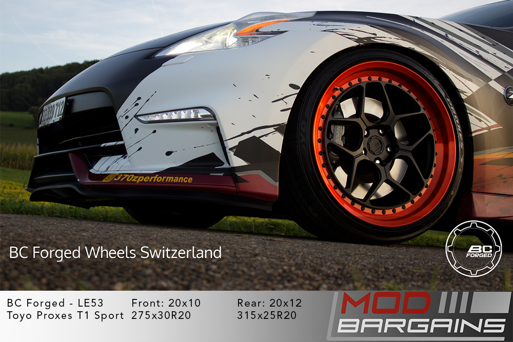 Wrapped Nissan Z34 370Z Nismo on 20 inch BC Forged LE53 Wheels toyo tires Modbargains