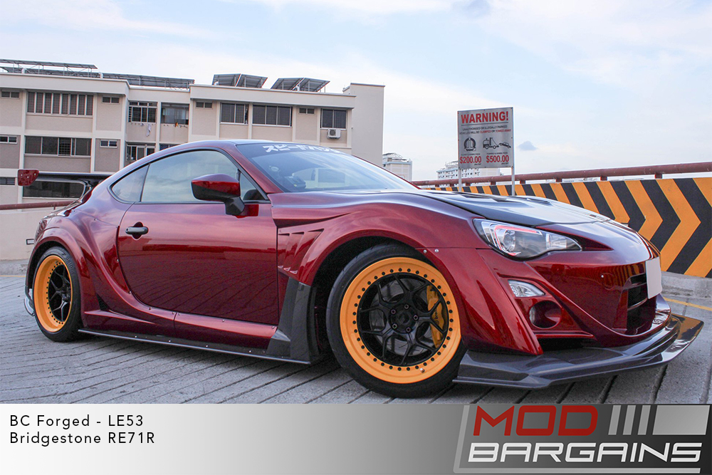 Red Scion FRS Varis Widebody on BC Forged LE53 Wheels toyo tires Modbargains