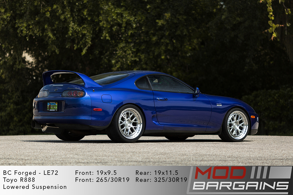 Blue Toyota MK4 Supra on 19 inch BC Forged LE72 Wheels Modbargains
