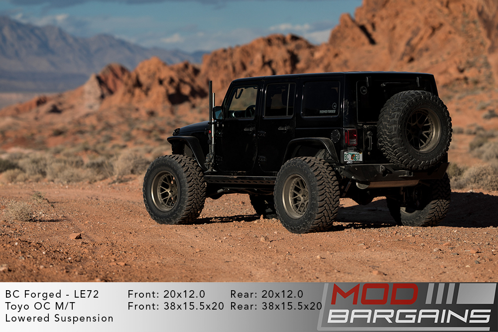 Black Jeep Wrangler on 20 inch BC Forged LE72 Wheels Modbargains