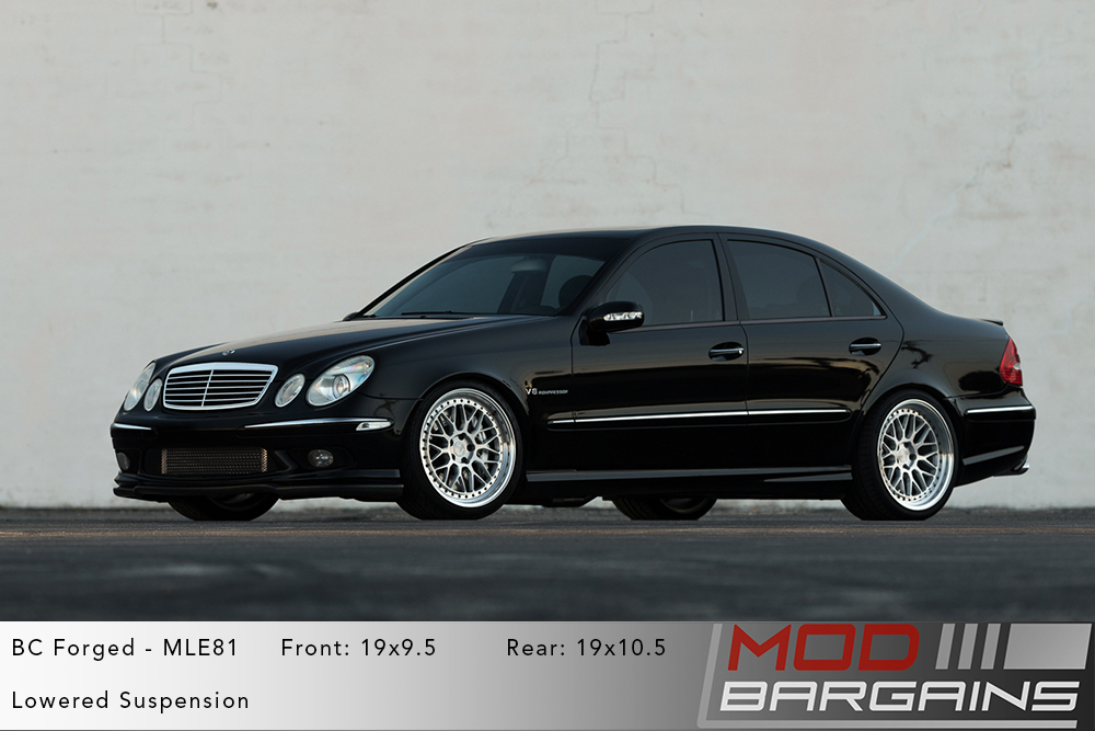 Black Mercedes W211 E55 AMG on 19 inch BC Forged MLE81 Wheels Modbargains