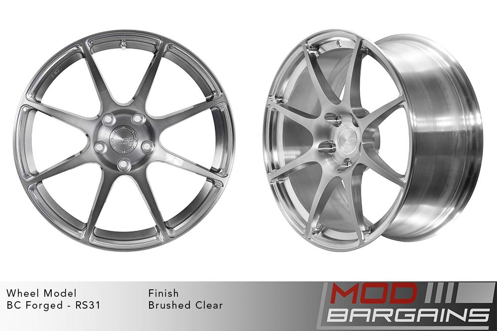 BC Forged RS31 Monoblock Forged Aluminum Split 5 Spoke Concave Matte Black Wheels Modbargains
