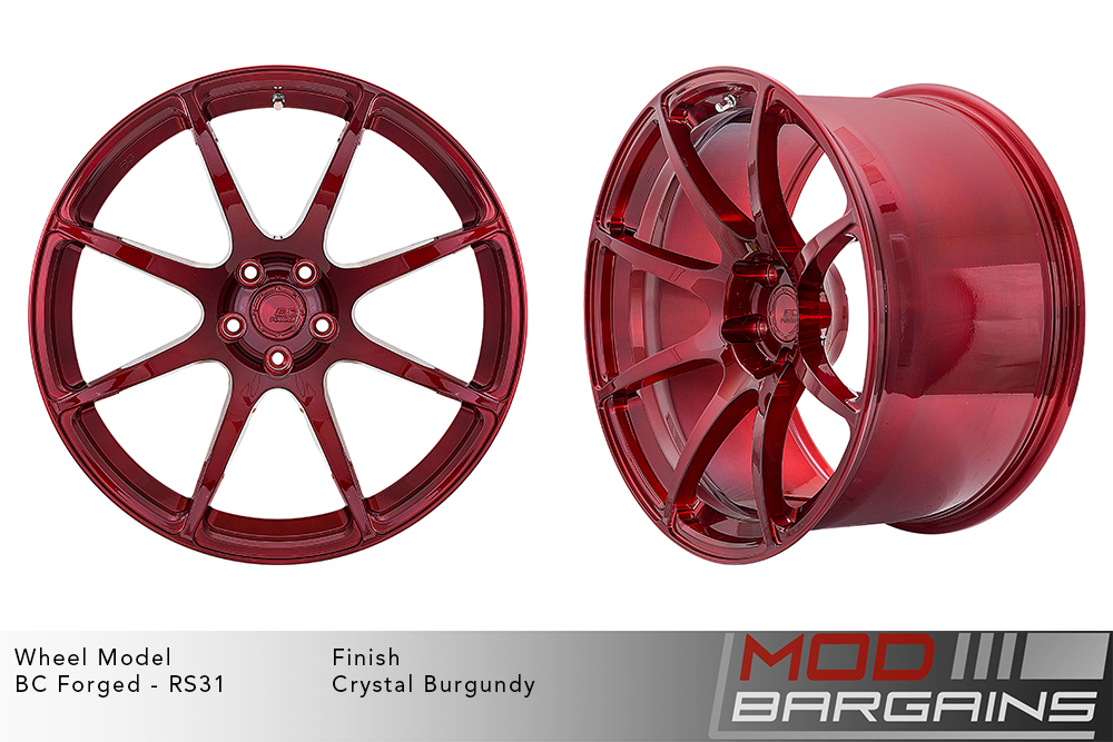 BC Forged RS31 Monoblock Forged Aluminum Split 5 Spoke Concave Wheels Brushed Silver Modbargains