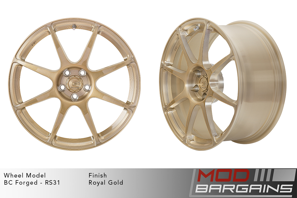 BC Forged RS31 Monoblock Forged Aluminum Split 5 Spoke Concave Wheels Matte Gunmetal Modbargains