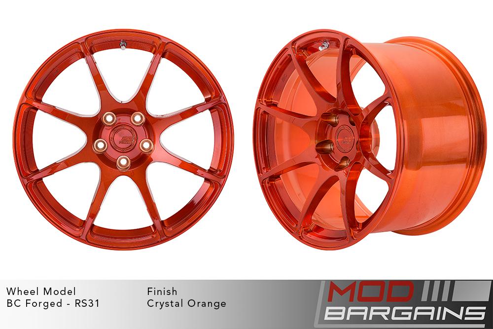 BC Forged RS31 Monoblock Forged Aluminum Split 5 Spoke Concave Wheels Brushed Red Modbargains