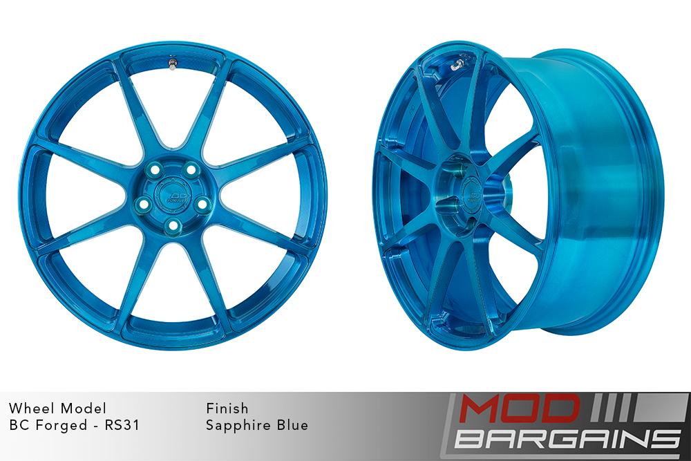 BC Forged RS31 Monoblock Forged Aluminum Split 5 Spoke Concave Wheels Gloss Gunmetal Modbargains