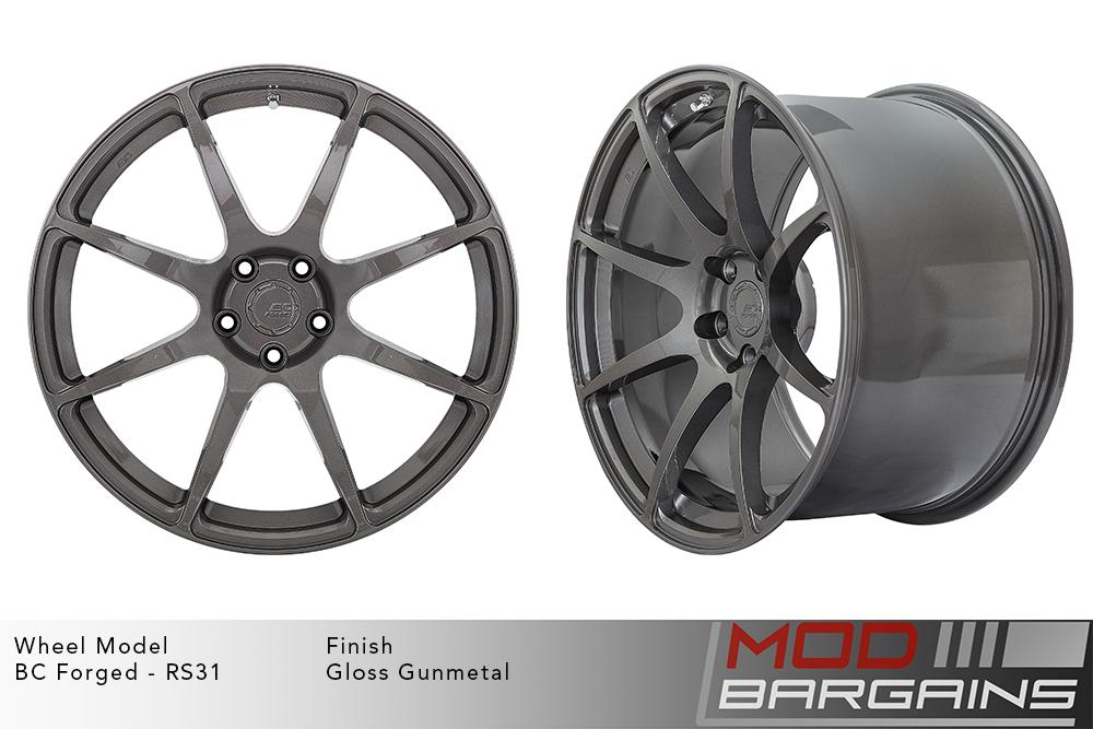 BC Forged RS31 Monoblock Forged Aluminum Split 5 Spoke Concave Wheels Gloss Black Modbargains