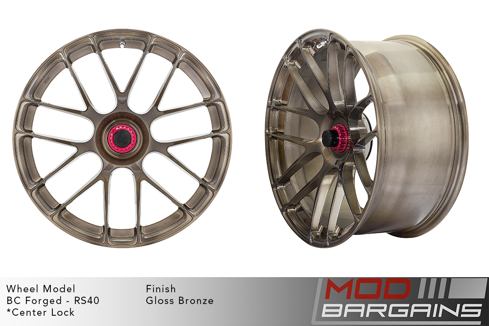 BC Forged RS40 Monoblock Forged Aluminum Split 7 Spoke Concave Gloss Bronze Wheels Modbargains