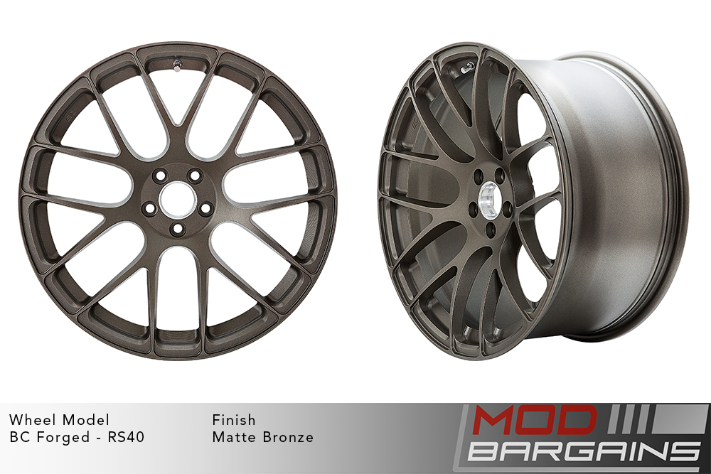 BC Forged RS40 Monoblock Forged Aluminum Split 7 Spoke Concave Wheels Matte Bronze Modbargains