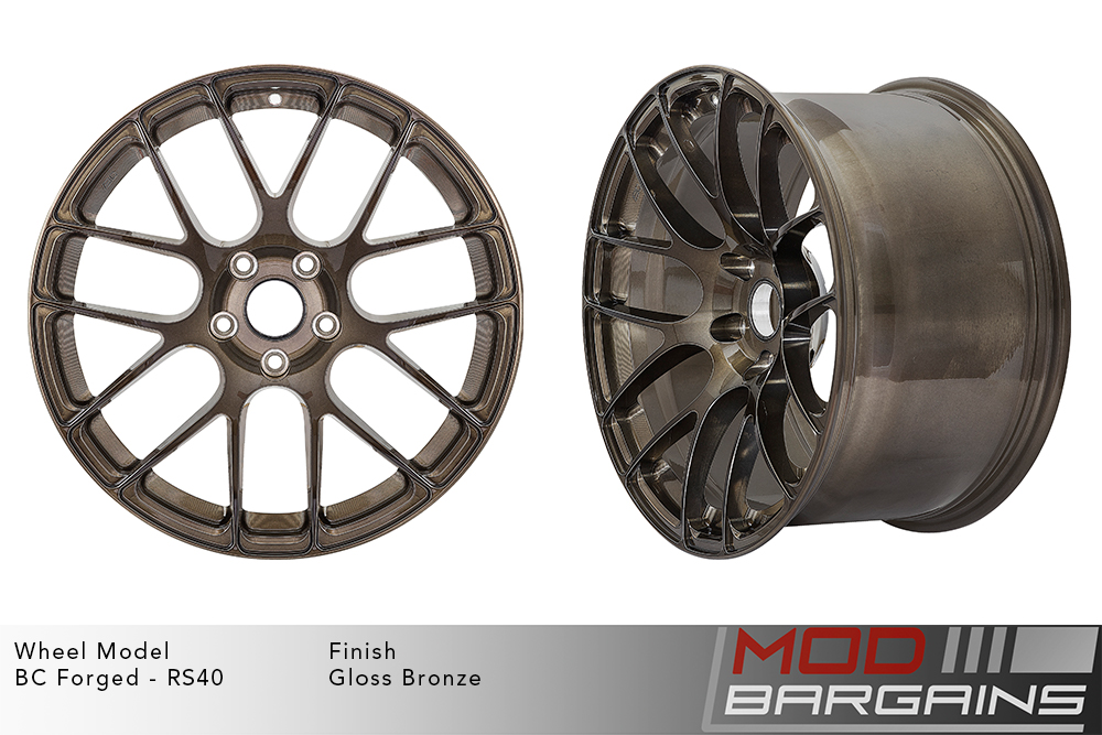 BC Forged RS40 Monoblock Forged Aluminum Split 7 Spoke Concave Wheels Gloss Bronze Modbargains