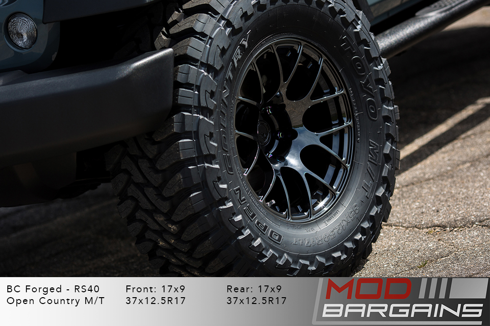 Jeep Wrangler BC Forged RS40 Black Wheels Modbargains