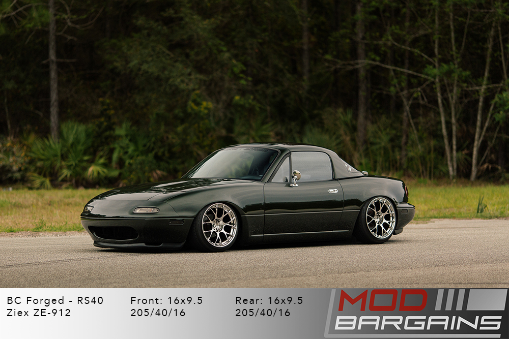 Mazda NA Miata BC Forged RS40 Silver Wheels Modbargains