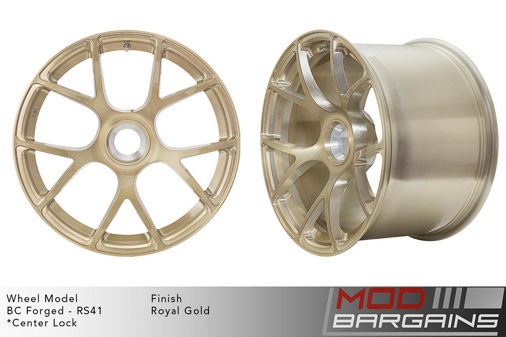 BC Forged RS41 Monoblock Forged Aluminum Split 7 Spoke Concave Wheels Brushed Royal Gold Modbargains