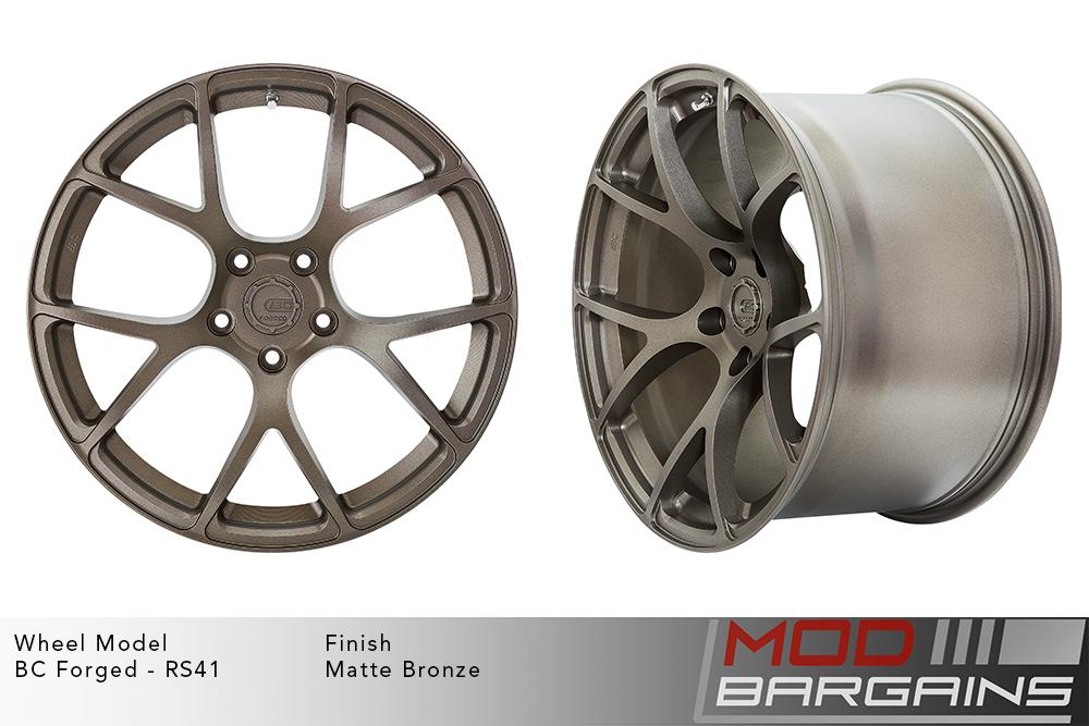 BC Forged RS41 Monoblock Forged Aluminum Split 7 Spoke Concave Wheels Matte Bronze Modbargains