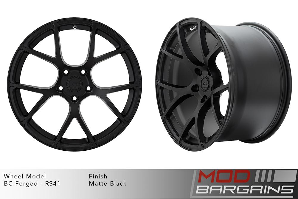 BC Forged RS41 Monoblock Forged Aluminum Split 7 Spoke Concave Wheels Matte Black Modbargains