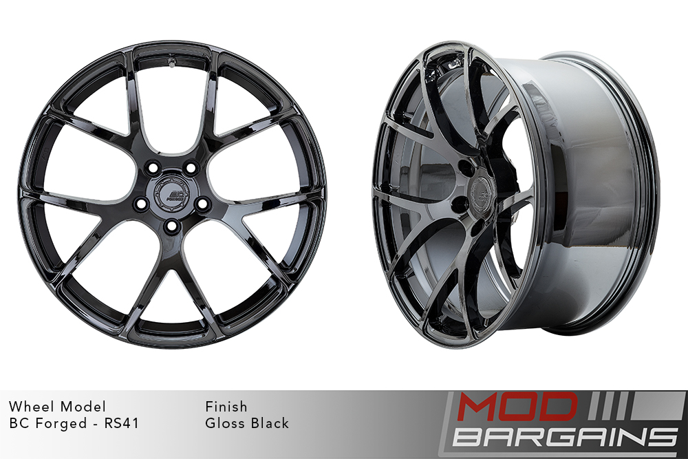 BC Forged RS41 Monoblock Forged Aluminum Split 7 Spoke Concave Wheels Gloss Black Modbargains