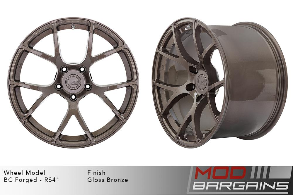 BC Forged RS41 Monoblock Forged Aluminum Split 7 Spoke Concave Wheels Gloss Bronze Modbargains