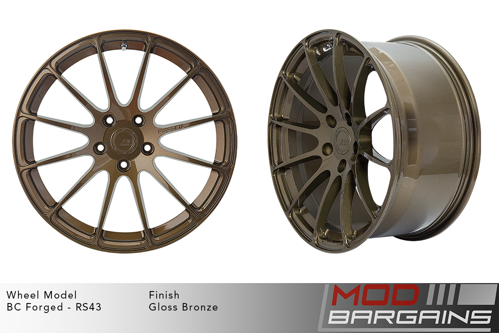 BC Forged RS43 Monoblock Forged Aluminum 12 Spoke Concave Wheels Gloss Bronze Modbargains