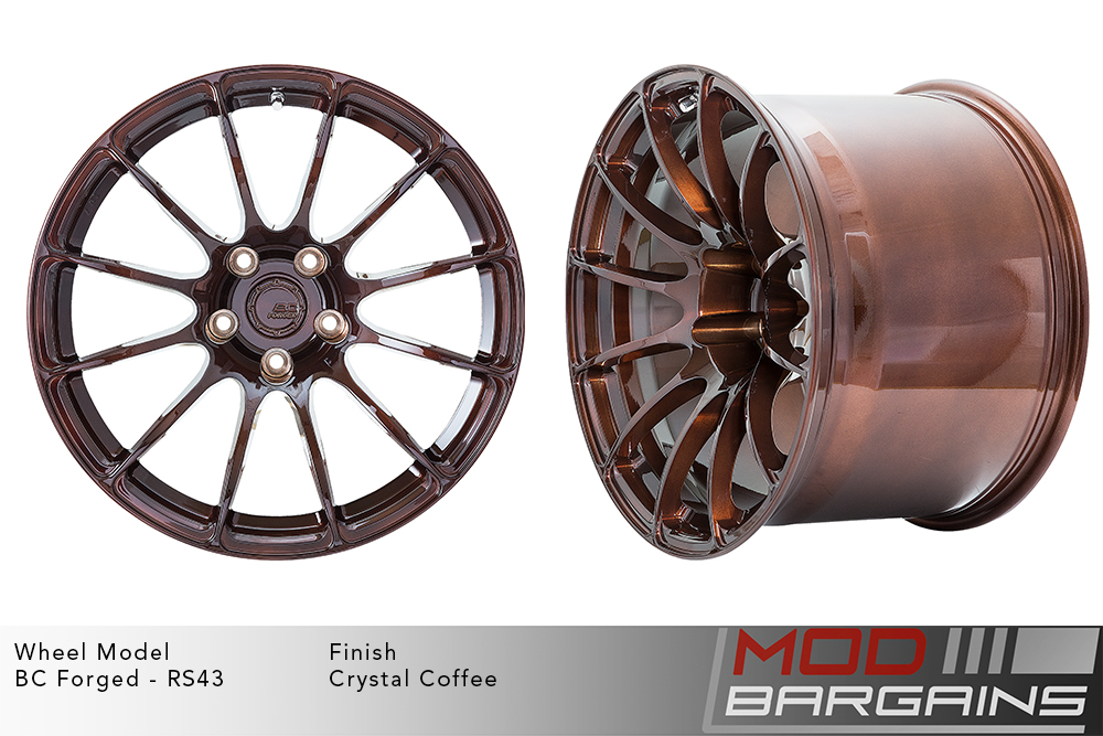BC Forged RS43 Monoblock Forged Aluminum 12 Spoke Concave Wheels Brushed Brown Crystal Coffee Modbargains