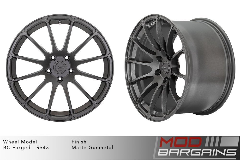 BC Forged RS43 Monoblock Forged Aluminum 12 Spoke Concave Wheels Matte Gunmetal Modbargains