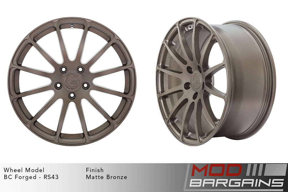 BC Forged RS43 Monoblock Forged Aluminum 12 Spoke Concave Wheels Matte Bronze Modbargains